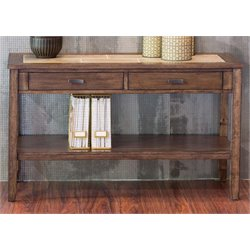 Liberty Furniture Mesa Valley Console Table in Tobacco