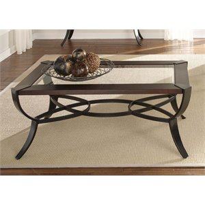 Liberty Furniture Skylights Glass Top Coffee Table in Sienna