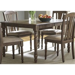 Liberty Furniture Candlewood Dining Table in Weather Gray