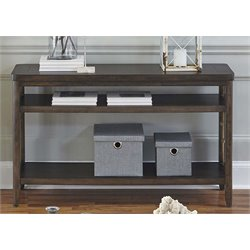 Liberty Furniture Dockside Console Table in Tobacco