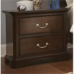 Liberty Furniture Avington 2 Drawer Nightstand in Dark Cognac