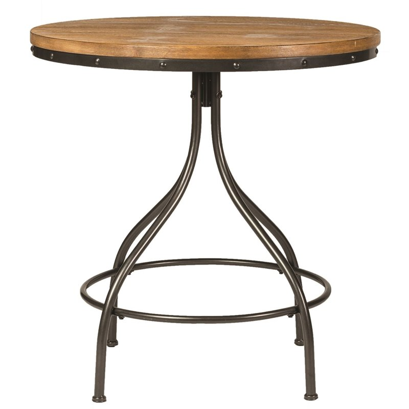 Liberty Furniture Vintage Metal Pub Table In Weathered