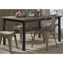 Liberty Furniture Vintage Metal Dining Table in Weathered Gray