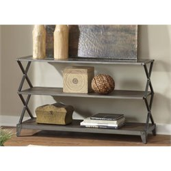 Liberty Furniture Avignon Console Table in Rustic Brown