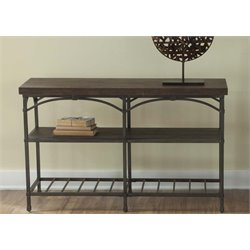 Liberty Furniture Franklin Console Table in Rustic Brown