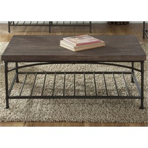 Liberty Furniture Franklin Coffee Table in Rustic Brown