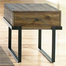 Liberty Furniture Paxton End Table in Wire Brushed Bronze