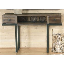 Liberty Furniture Paxton Console Table in Wire Brushed Bronze