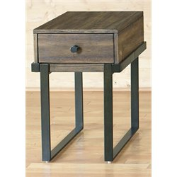 Liberty Furniture Paxton Side Table in Wire Brushed Bronze