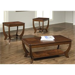 Liberty Furniture Cherryville 3 Piece Coffee Table Set in Autumn Blush