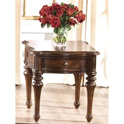 Liberty Furniture Andalusia End Table in Vintage Cherry