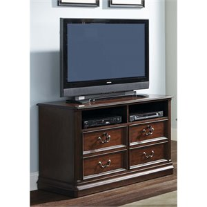 Liberty Furniture Brayton Manor 2 Drawer Media Lateral File in Cognac