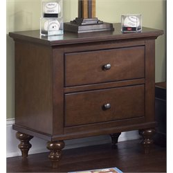 Liberty Furniture Abbott Ridge Nightstand in Cinnamon