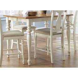 Liberty Furniture Ocean Isle Counter Height Dining Table in Bisque