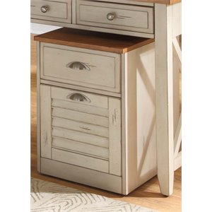 Liberty Furniture Ocean Isle 2 Drawer Mobile File Cabinet in Bisque