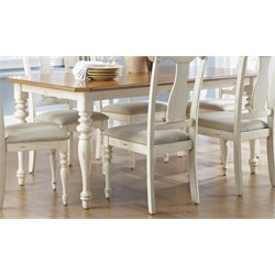 Liberty Furniture Ocean Isle Dining Table in Bisque with Natural Pine