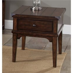 Liberty Furniture Aspen Skies End Table in Russet Brown