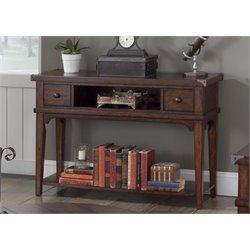 Liberty Furniture Aspen Skies Console Table in Russet Brown