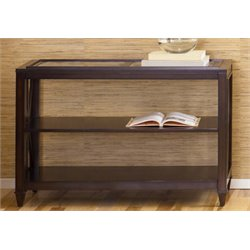 Liberty Furniture Caroline Glass Top Console Table in Espresso Stain