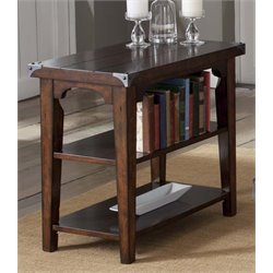 Liberty Furniture Aspen Skies Side Table in Russet Brown
