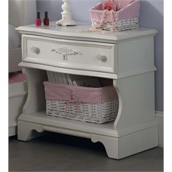 Liberty Furniture Arielle Nightstand in Antique White