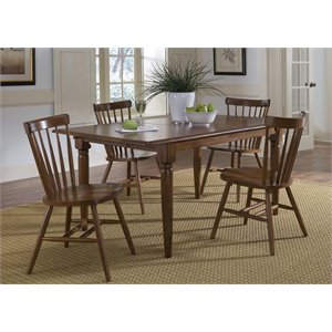 Liberty Furniture Creations II Butterfly Leaf Dining Table in Tobacco