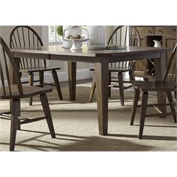 Liberty Furniture Hearthstone Dining Table in Rustic Oak