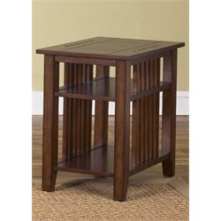 Liberty Furniture Prairie Hills Side Table in Satin Cherry