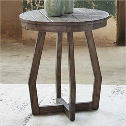 Liberty Furniture Hayden Way Round Side Table in Gray Wash