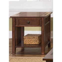 Liberty Furniture Prairie Hills End Table in Satin Cherry