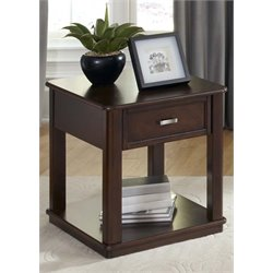 Liberty Furniture Wallace End Table in Dark Toffee