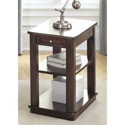 Liberty Furniture Wallace Side Table in Dark Toffee