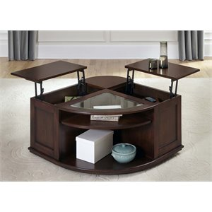Liberty Furniture Wallace Lift Top Coffee Table in Dark Toffee