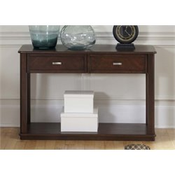 Liberty Furniture Wallace Console Table in Dark Toffee