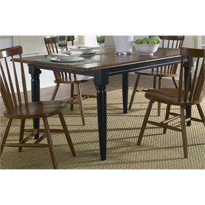 Liberty Furniture Creations II Butterfly Leaf Dining Table in Black