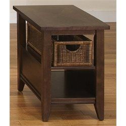 Liberty Furniture Lakewood Basket End Table in Amaretto
