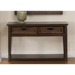 Liberty Furniture Lakewood Basket Console Table in Amaretto