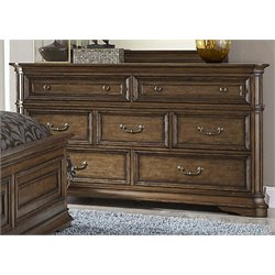 Amelia 7 Drawer Dresser in Antique Toffee