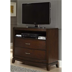 Liberty Furniture Avalon 2 Drawer Media Chest in Dark Truffle