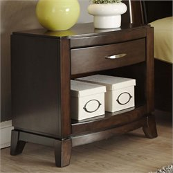 Liberty Furniture Avalon 1 Drawer Nightstand in Dark Truffle