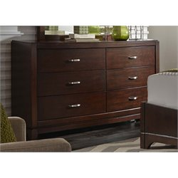 Avalon 6 Drawer Dresser in Dark Truffle (B)