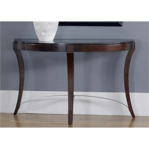 Liberty Furniture Avalon Glass Top Console Table in Dark Truffle
