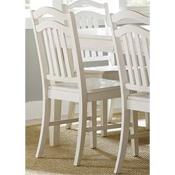 Liberty Furniture Summerhill Slat Back Dining Side Chair in White