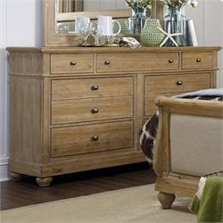 Harbor View 7 Drawer Dresser in Sand
