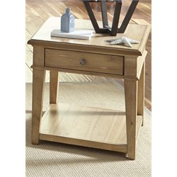 Liberty Furniture Harbor View End Table in Sand