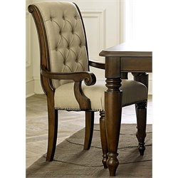 Liberty Furniture Cotswold Upholstered Dining Arm Chair in Cinnamon