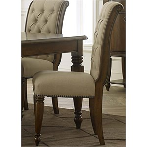 Liberty Furniture Cotswold Upholstered Dining Side Chair in Cinnamon