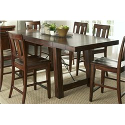 Liberty Furniture Tahoe Counter Height Dining Table in Mahogany Stain
