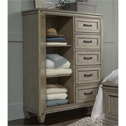 Liberty Furniture Grayton Grove 5 Drawer Door Chest in Driftwood