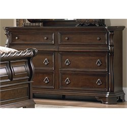 Arbor Place 8 Drawer Double Dresser in Brownstone